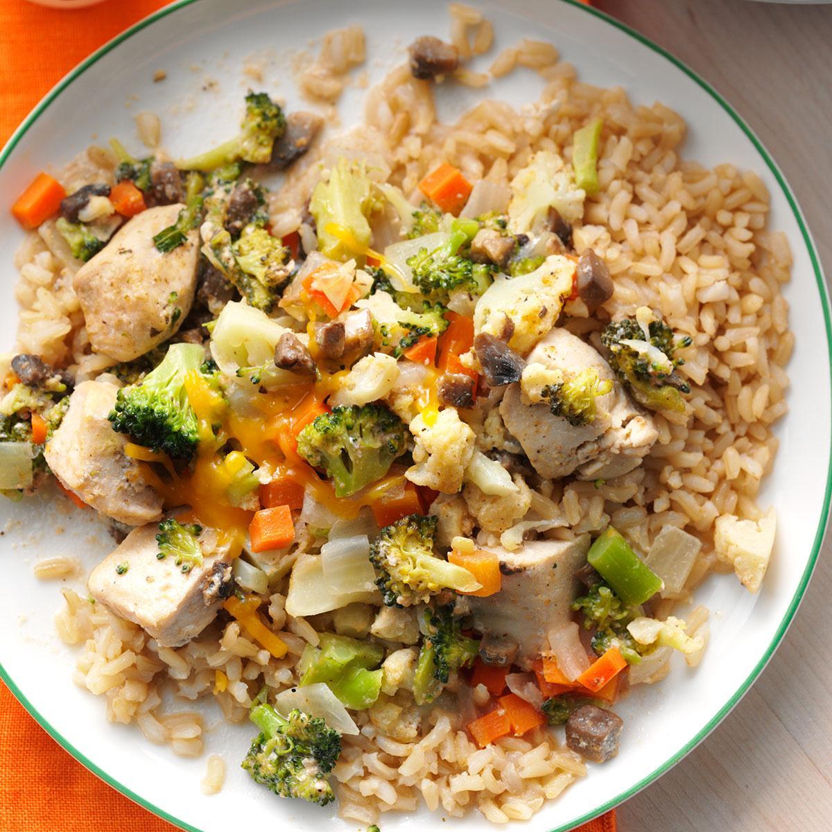 Broccoli,Cauliflower Chicken Casserole