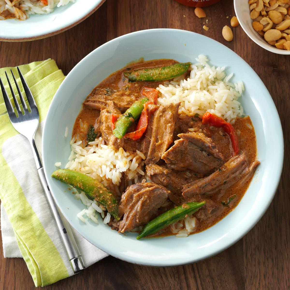 Thai coconut beef recipe taste of home forumfinder Images