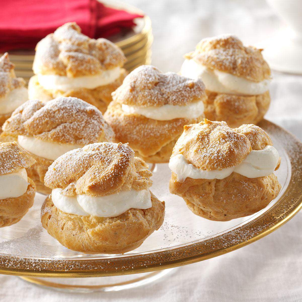 eggnog cream puffs recipe taste of home