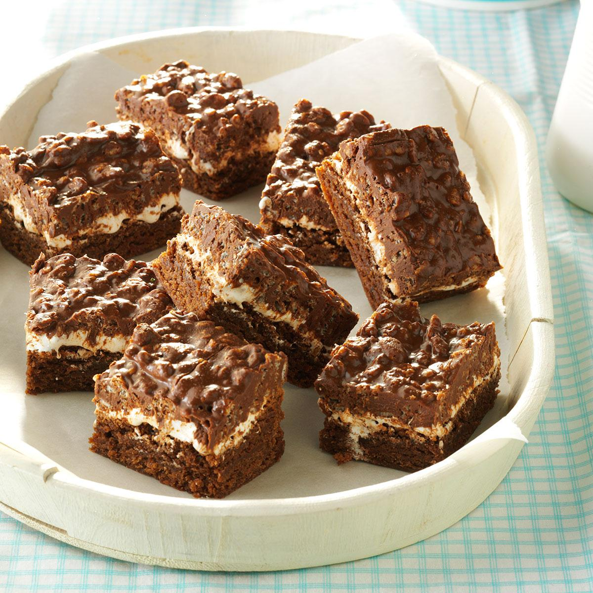 Chocolate crunch brownies taste of home forumfinder Images