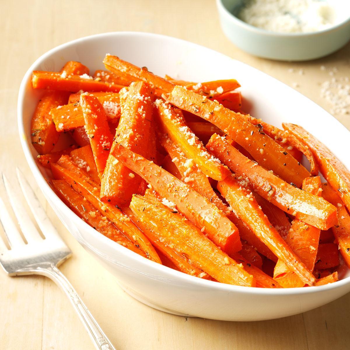 Roasted parmesan carrots recipe taste of home forumfinder Gallery