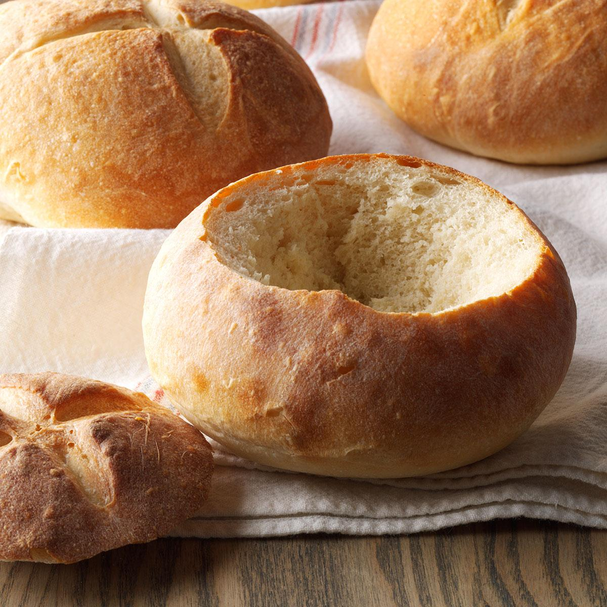 Quick And Easy Bread Bowls Recipe