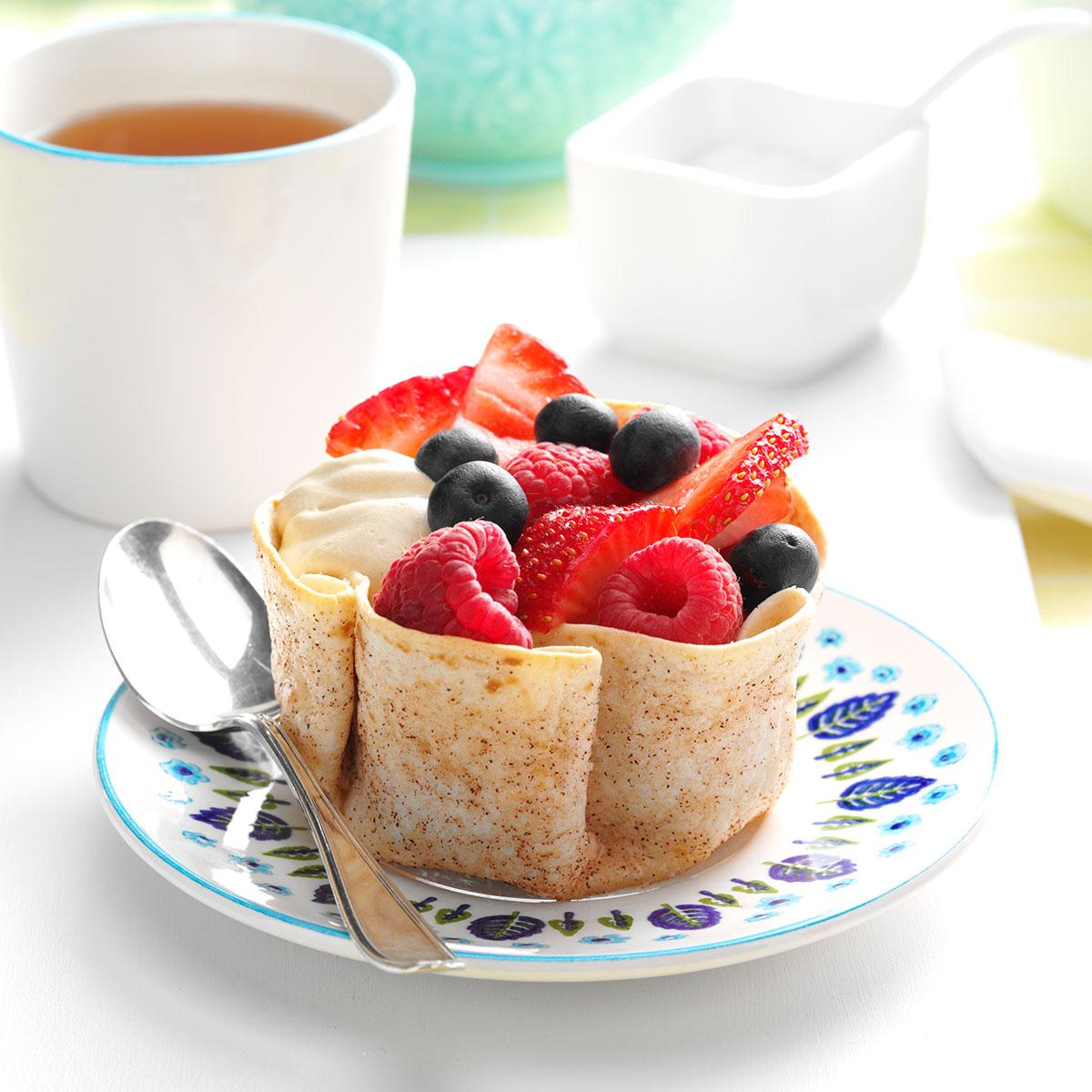 Coffee cream tortilla cups recipe taste of home forumfinder Images