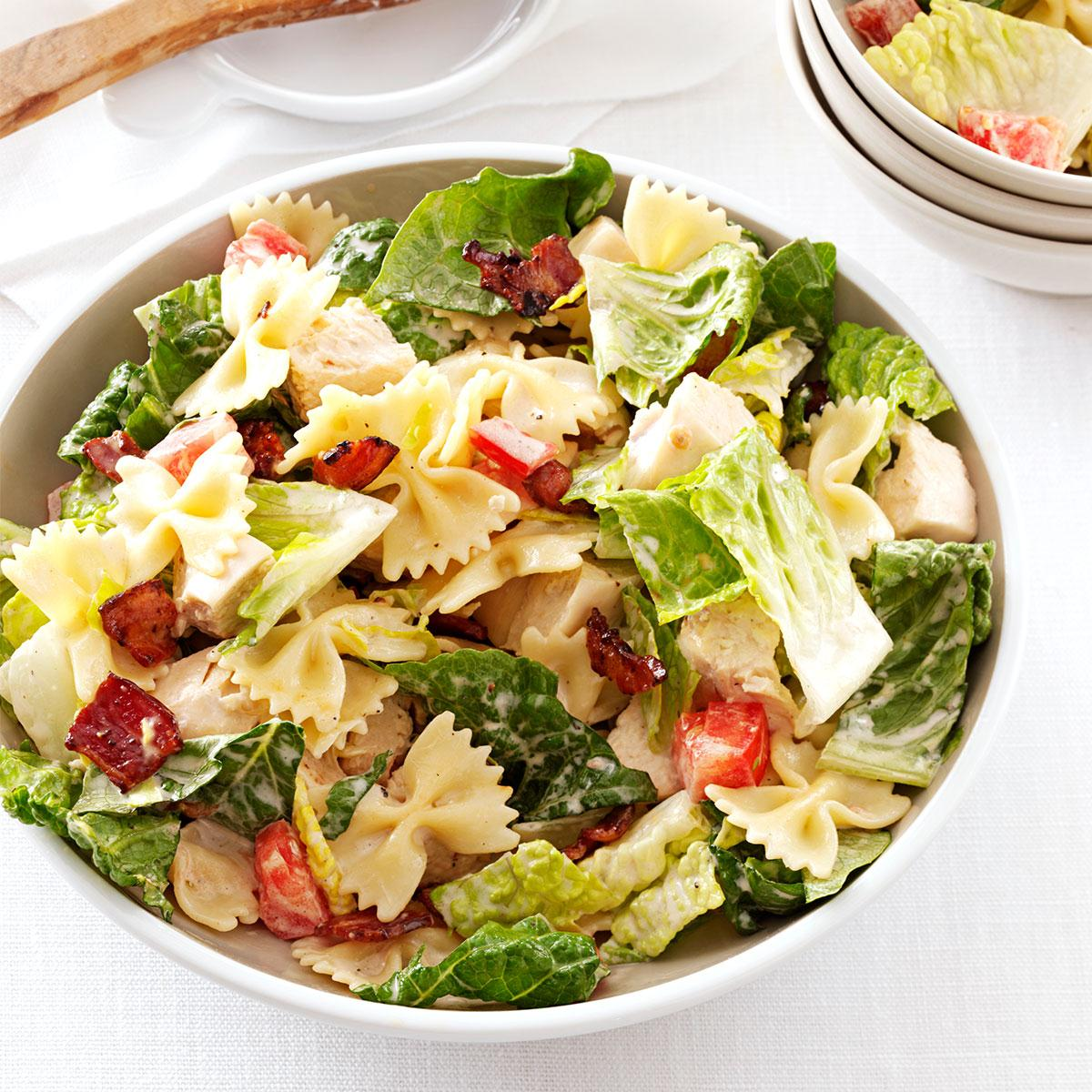 Blt bow tie pasta salad taste of home forumfinder Choice Image