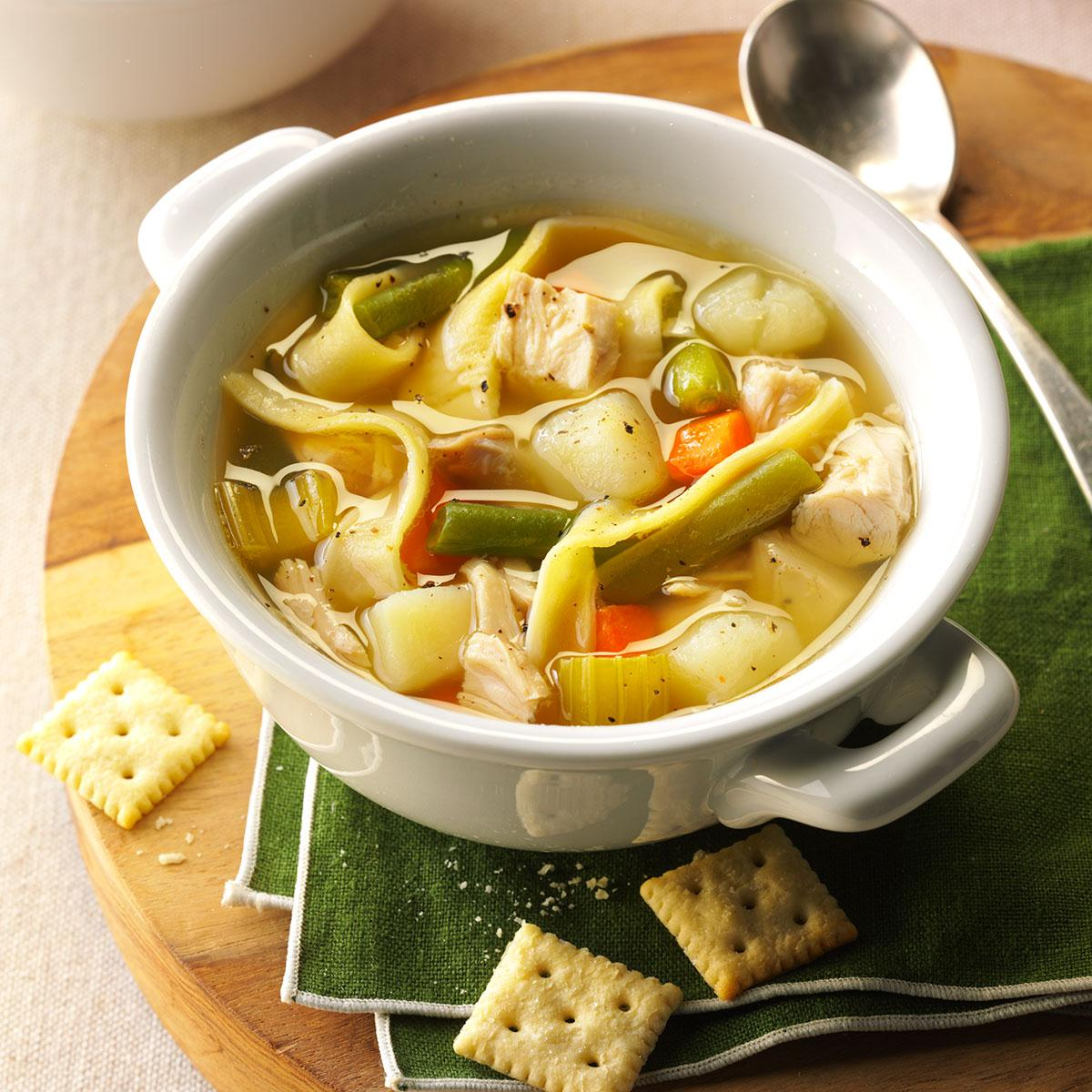 Mom S Chicken Noodle Soup Recipe Taste Of Home