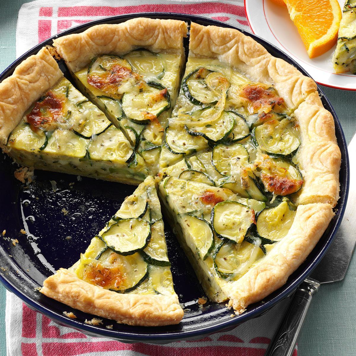 Cheesy zucchini quiche taste of home forumfinder Gallery
