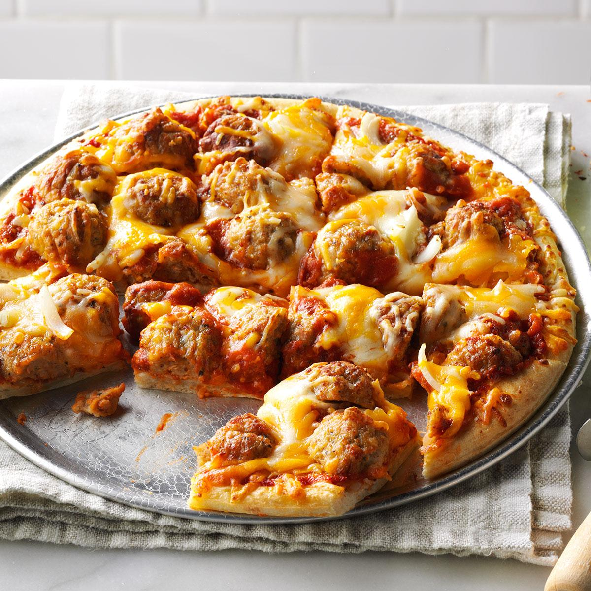 Meatball pizza recipe taste of home forumfinder Image collections