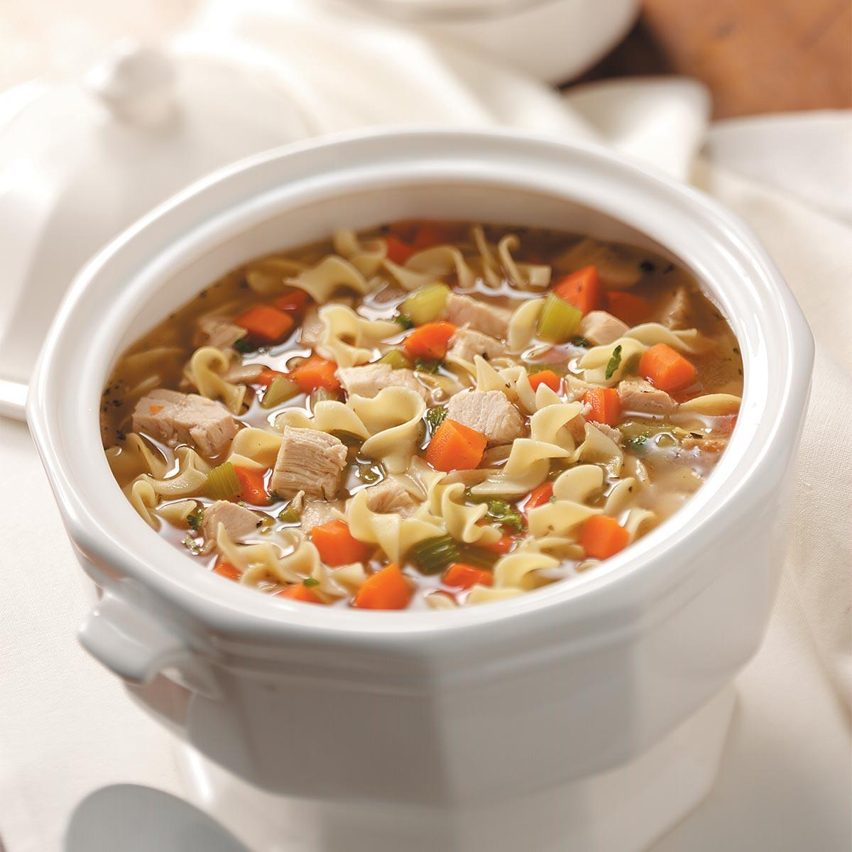 Old Fashioned Turkey Noodle Soup Recipe Taste Of Home