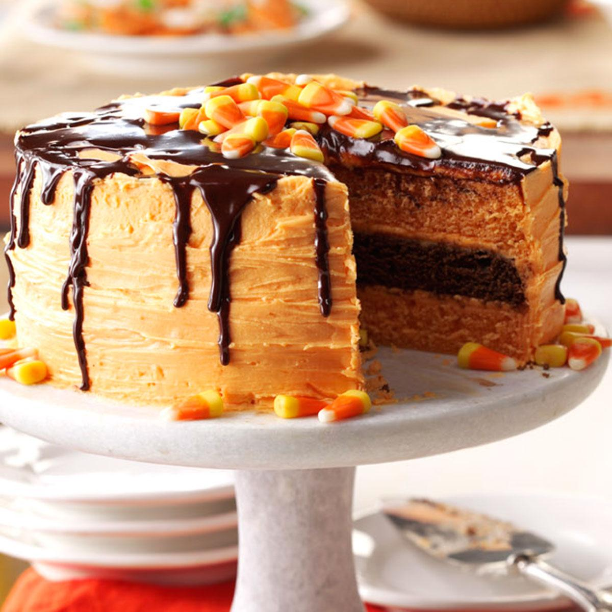 halloween layer cake recipe taste of home