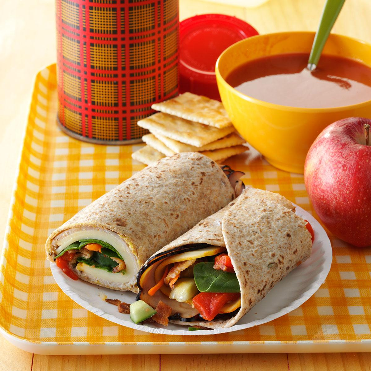 Turkey Lunch Box Wraps Recipe