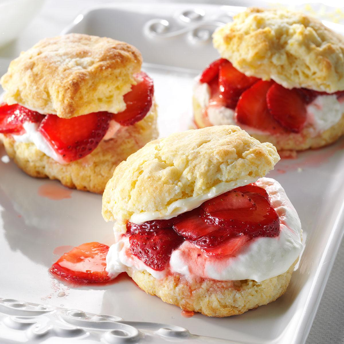 Strawberry Lemon Shortcake Recipe Taste Of Home
