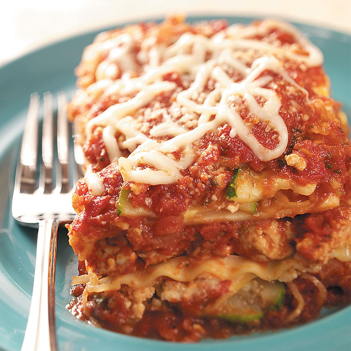 Turkey N Squash Lasagna