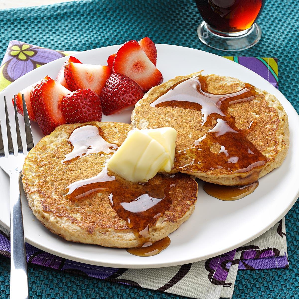 Brown sugar oatmeal pancakes recipe taste of home ccuart Images