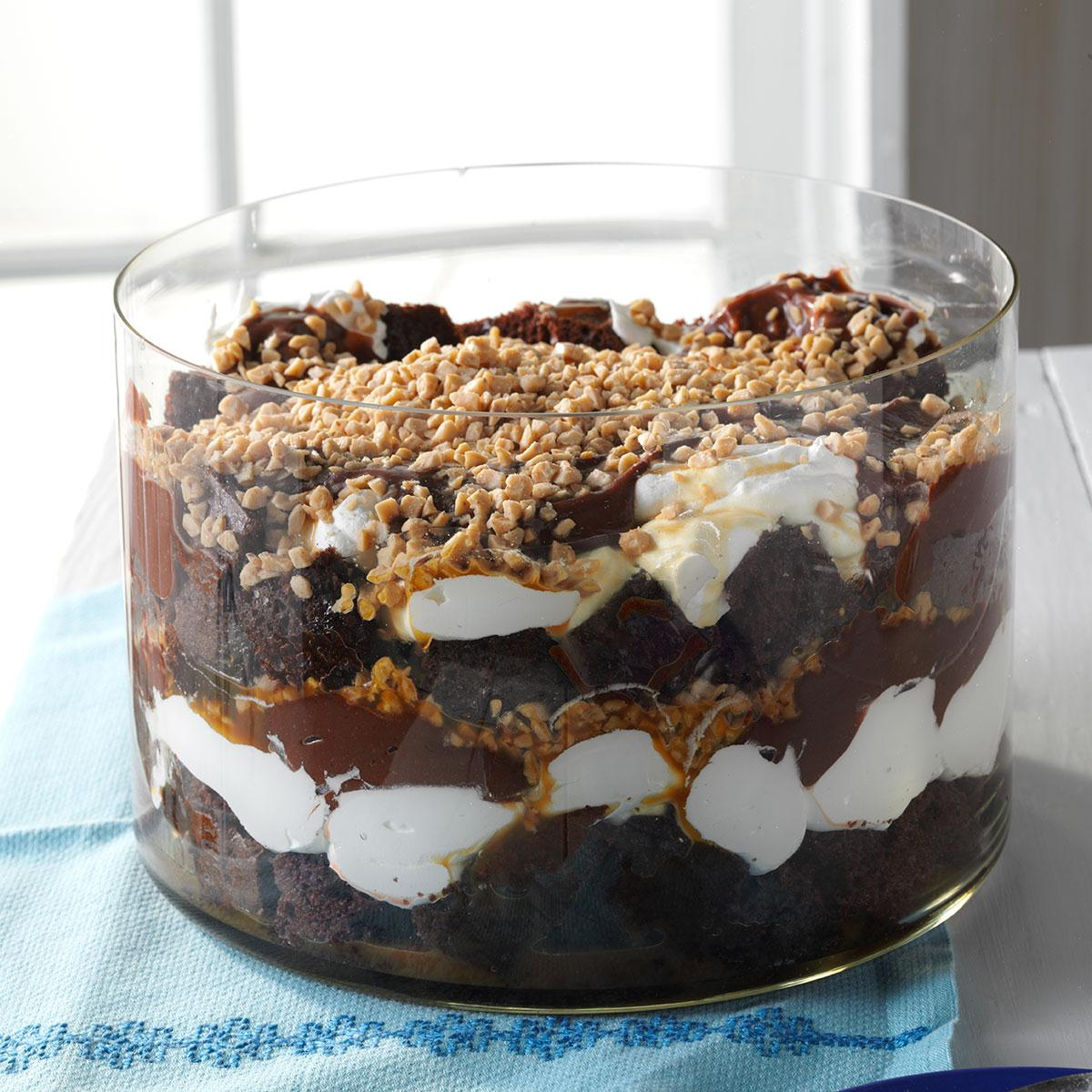 Caramel Chocolate Trifle Taste of Home