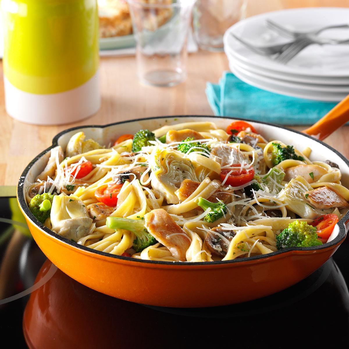 Artichoke Chicken Pasta Recipe