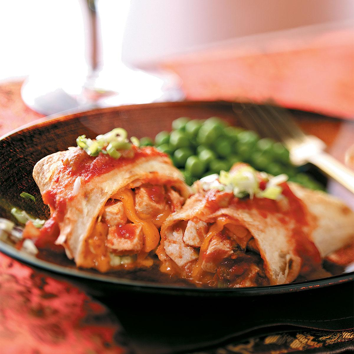 baked chicken chimichangas recipe taste of home