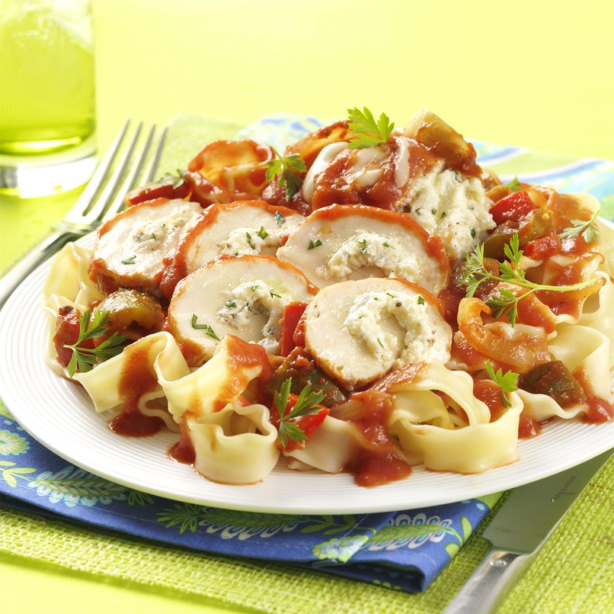chicken cannelloni recipe taste of home