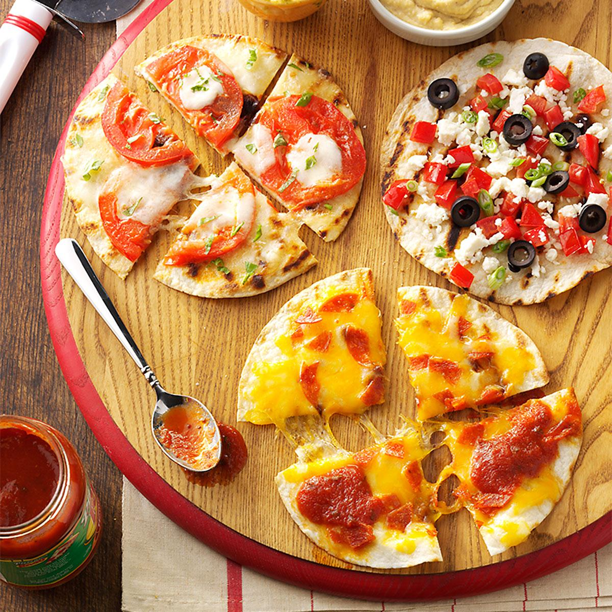 appetizer pizzas recipe | taste of home