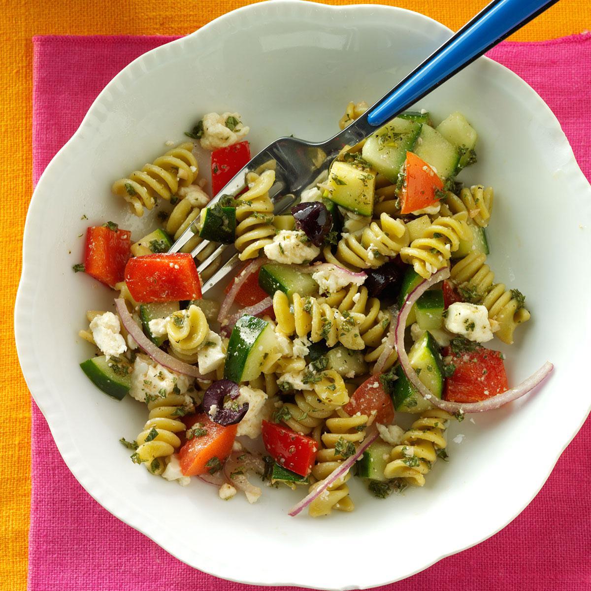 Spring Greek Pasta Salad Recipe Taste Of Home