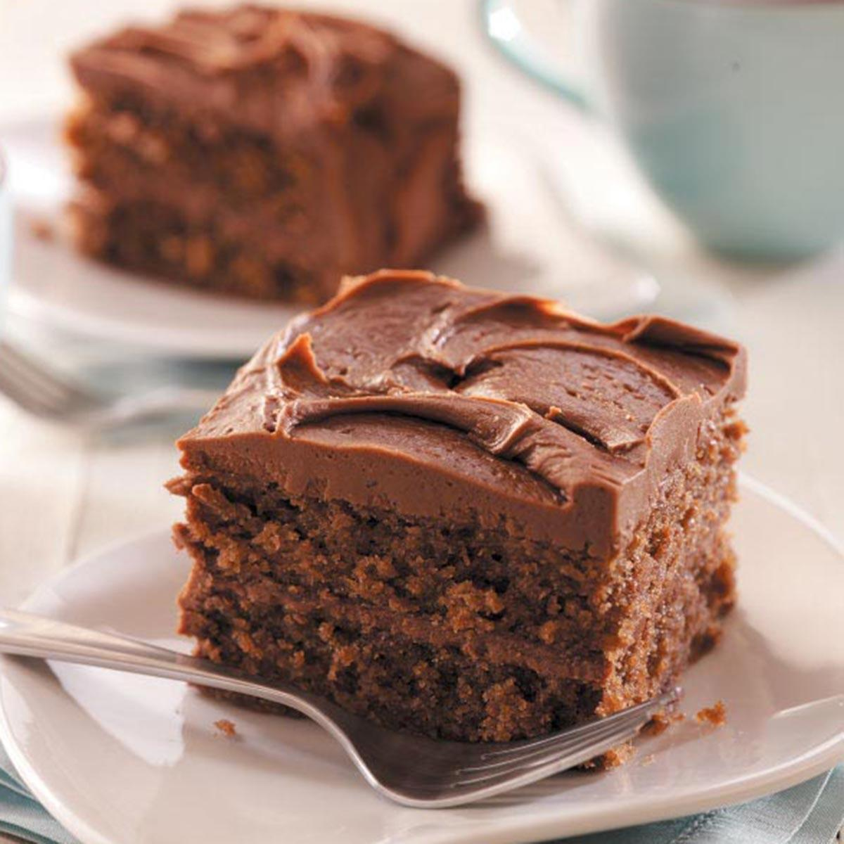 Chocolate Cake With Cocoa Frosting Recipe