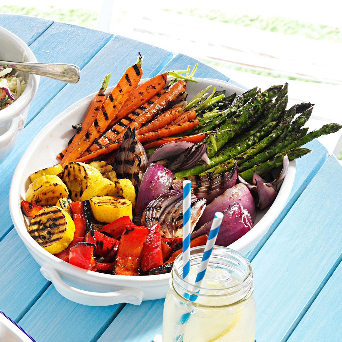 grilled vegetable platter recipe | taste of home