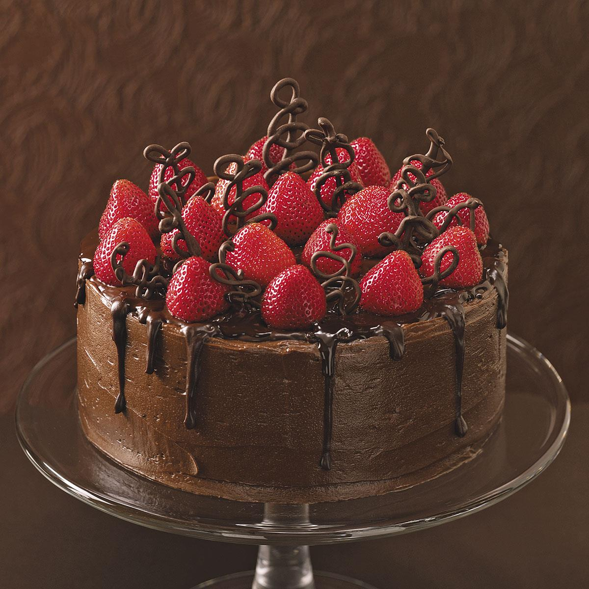 Chocolate Strawberry Celebration Cake Recipe