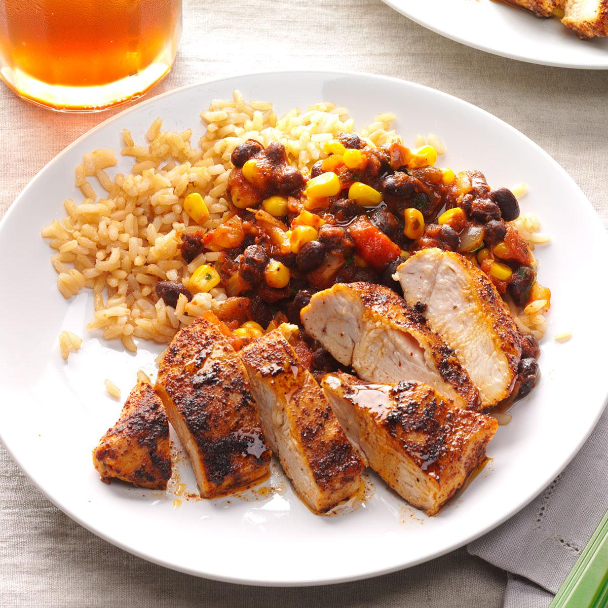 Black bean chicken with rice taste of home forumfinder Gallery