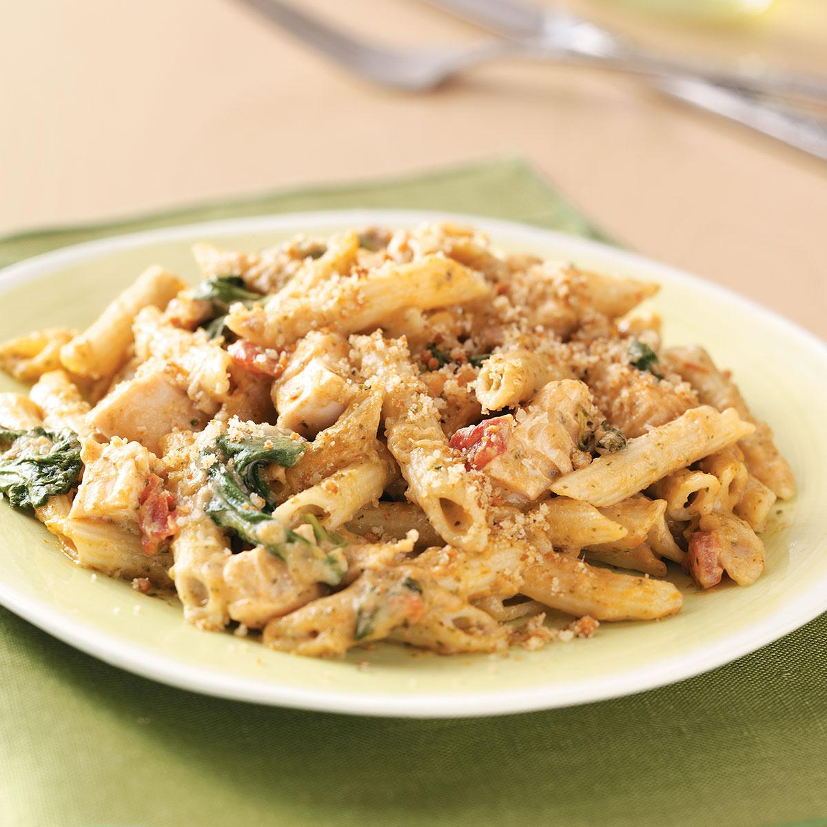 Pesto Chicken Penne Casseroles Recipe