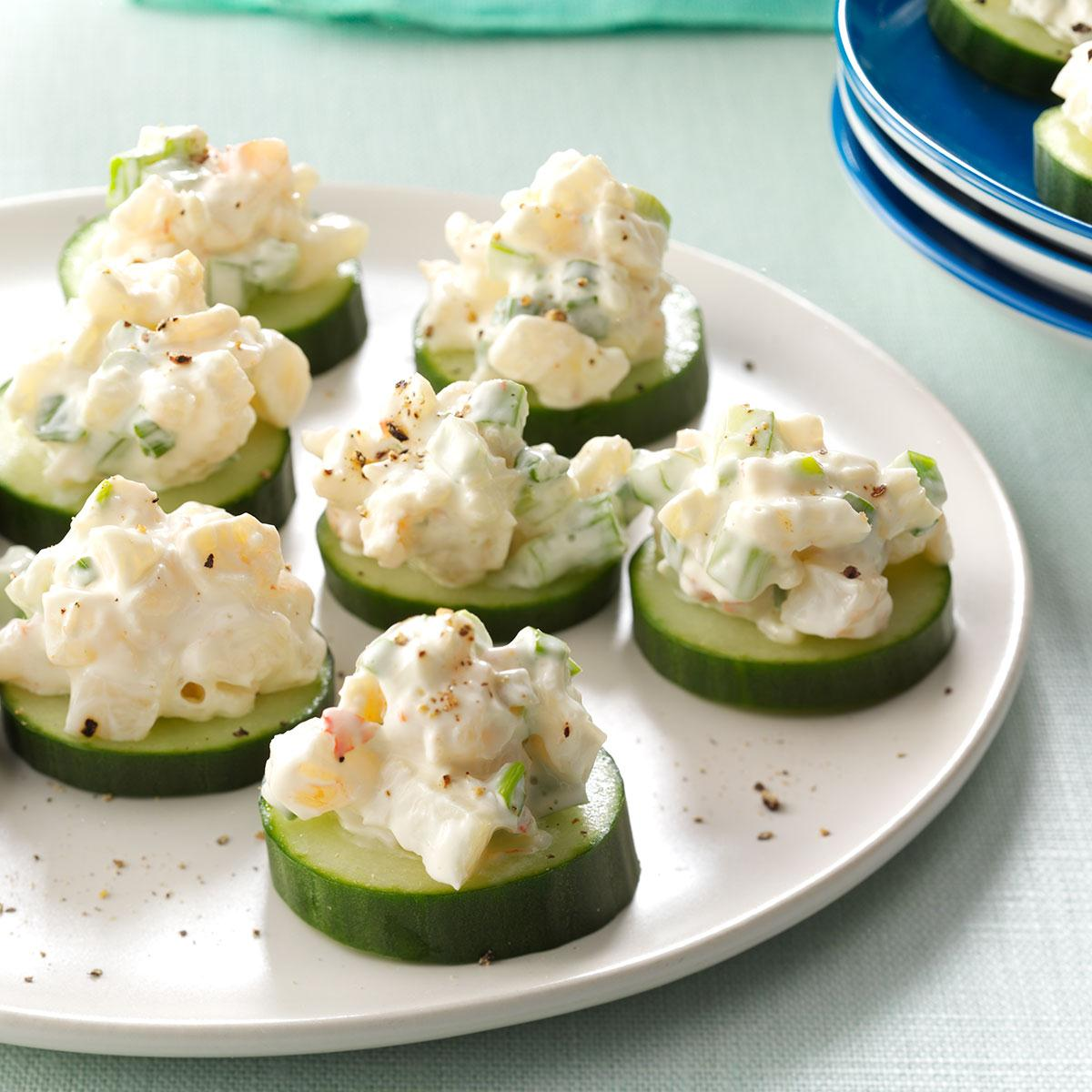 Shrimp cucumber rounds recipe taste of home forumfinder Gallery