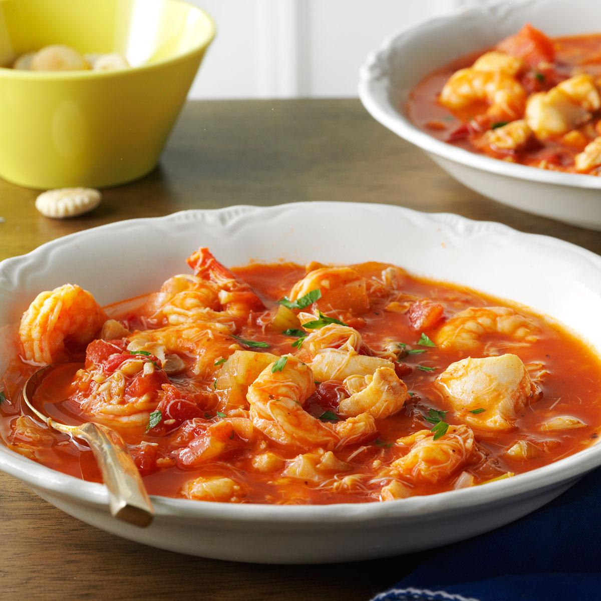 seafood cioppino recipe | taste of home