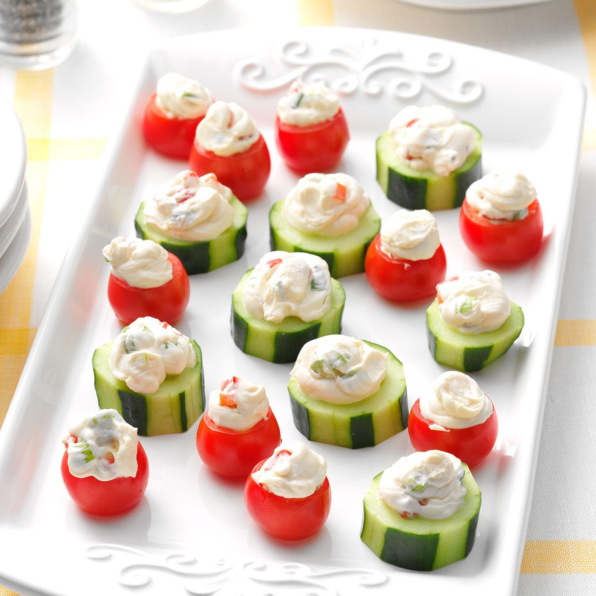 Christmas Party Finger Foods.Inside Out Veggie Dip