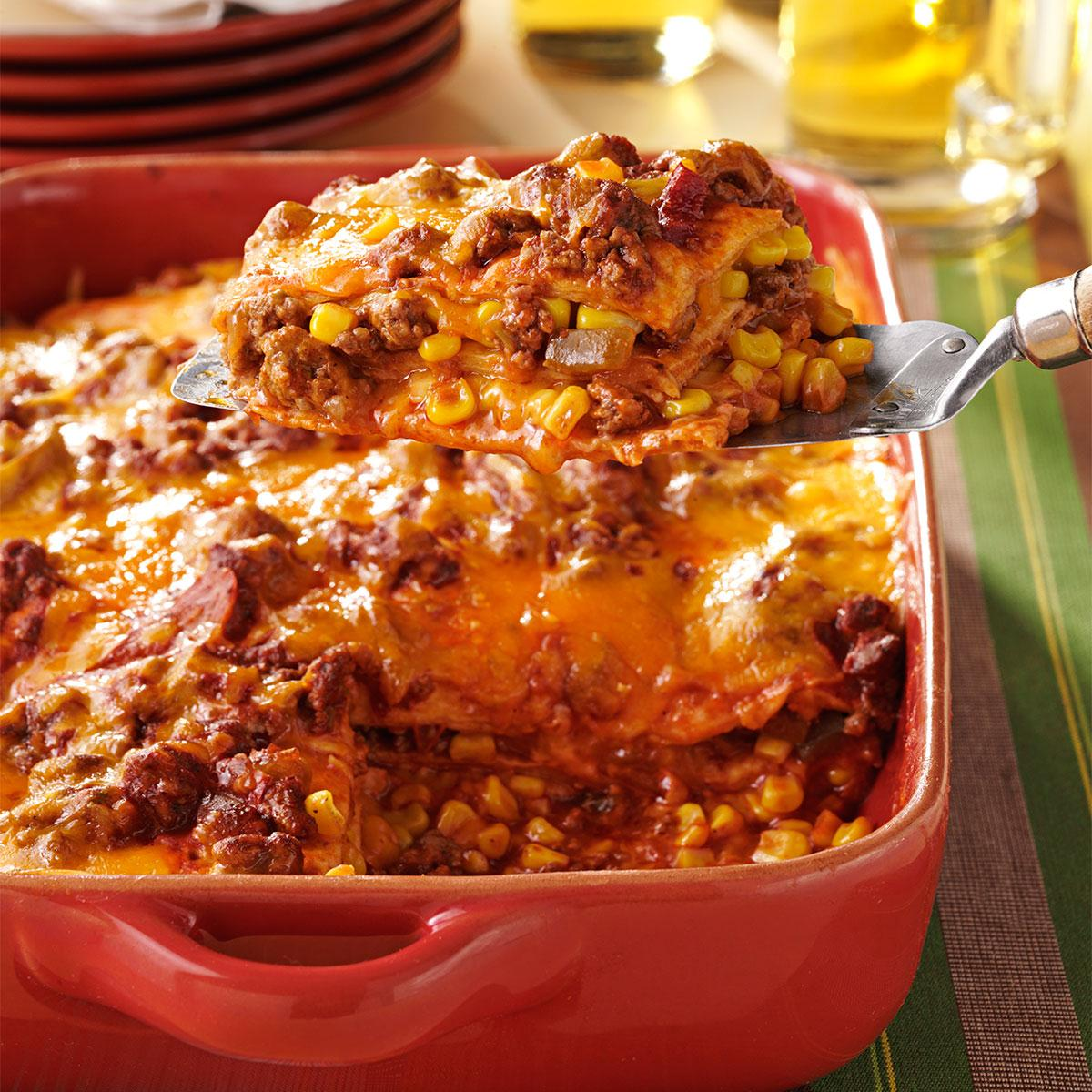 Delicious and useful casserole from minced meat (chicken)
