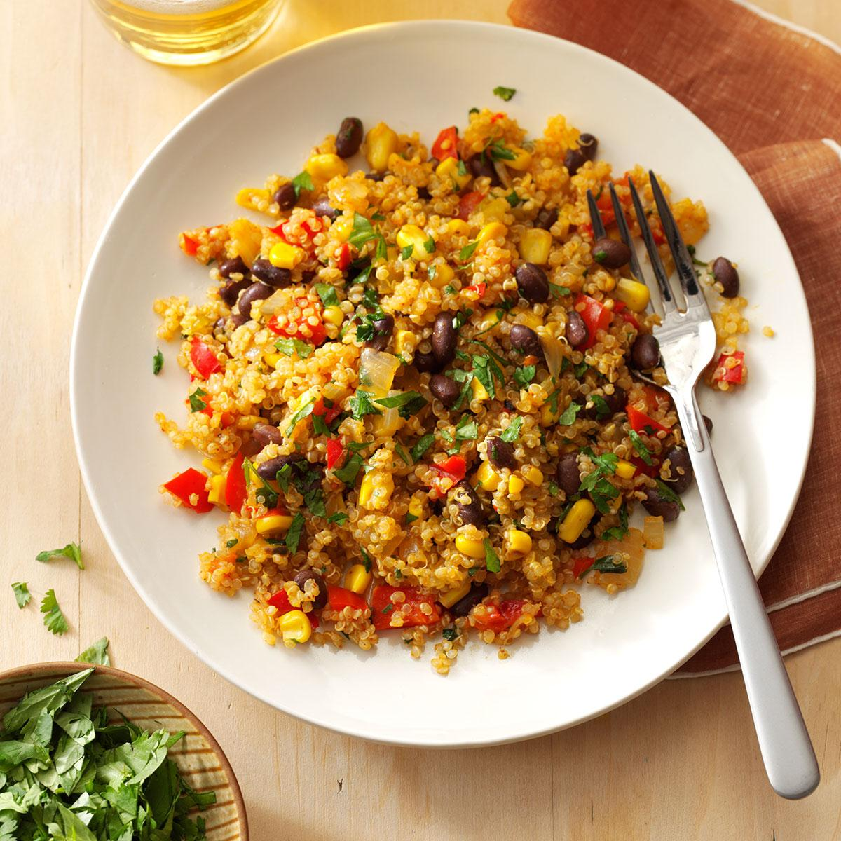 black bean corn quinoa recipe taste of home