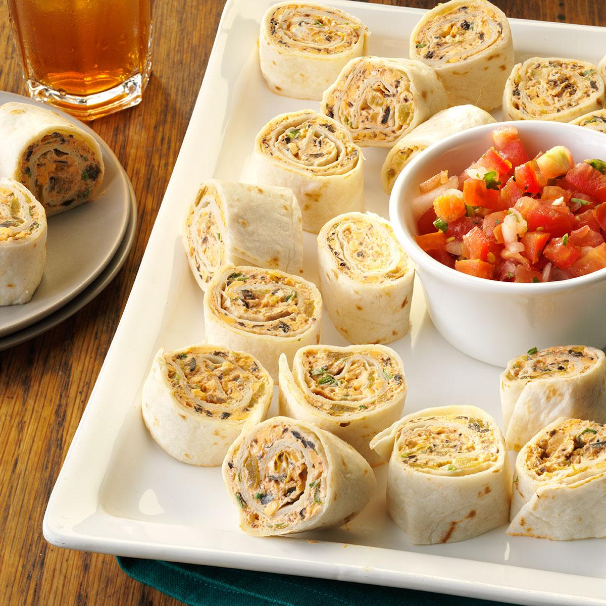 fiesta pinwheels recipe | taste of home