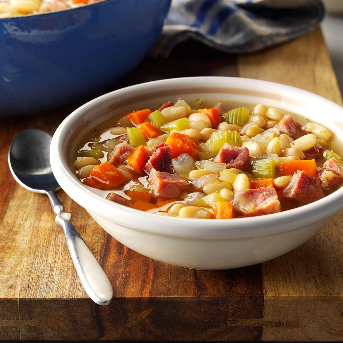 Bean soup is a favorite of home cooking