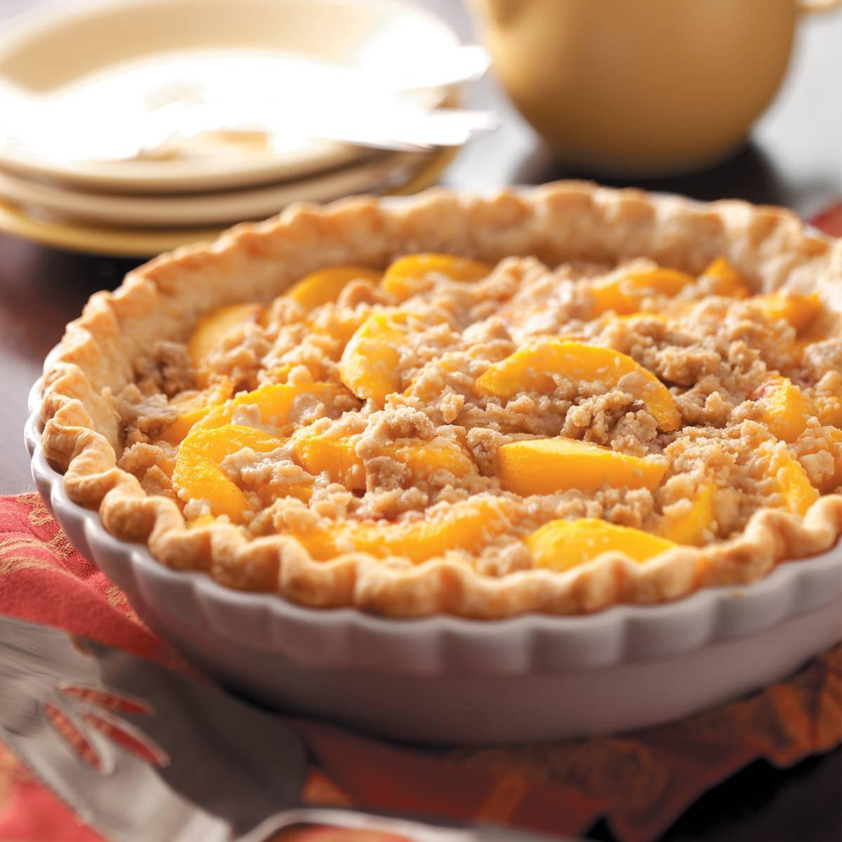 Peach pie. Pie with canned peaches - recipes, photos 40