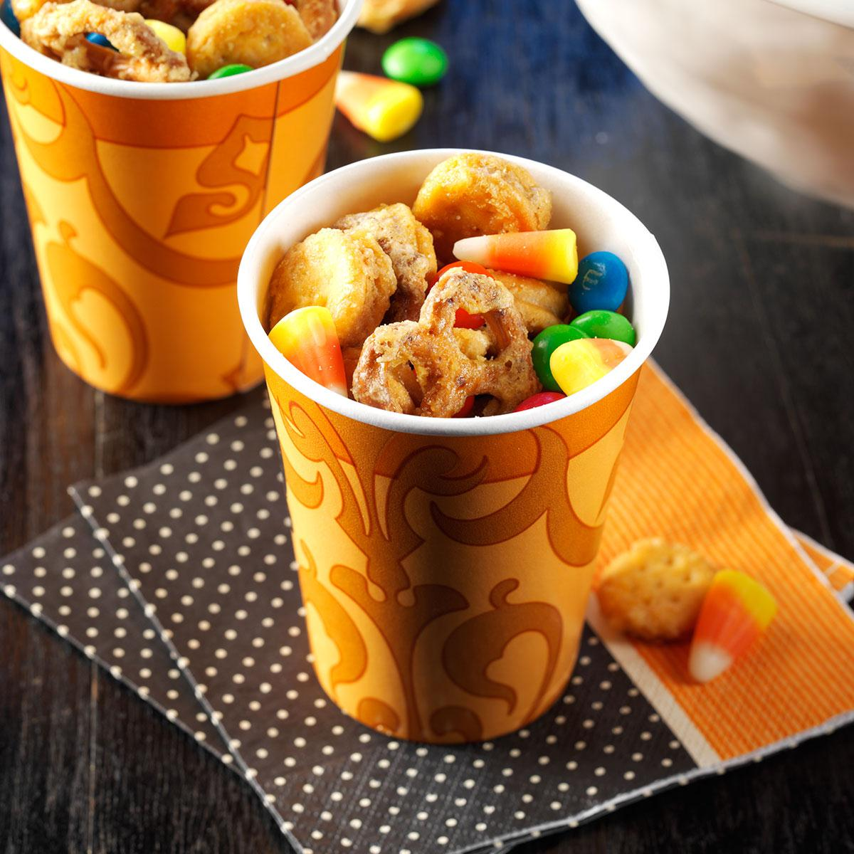 halloween party mix recipe | taste of home