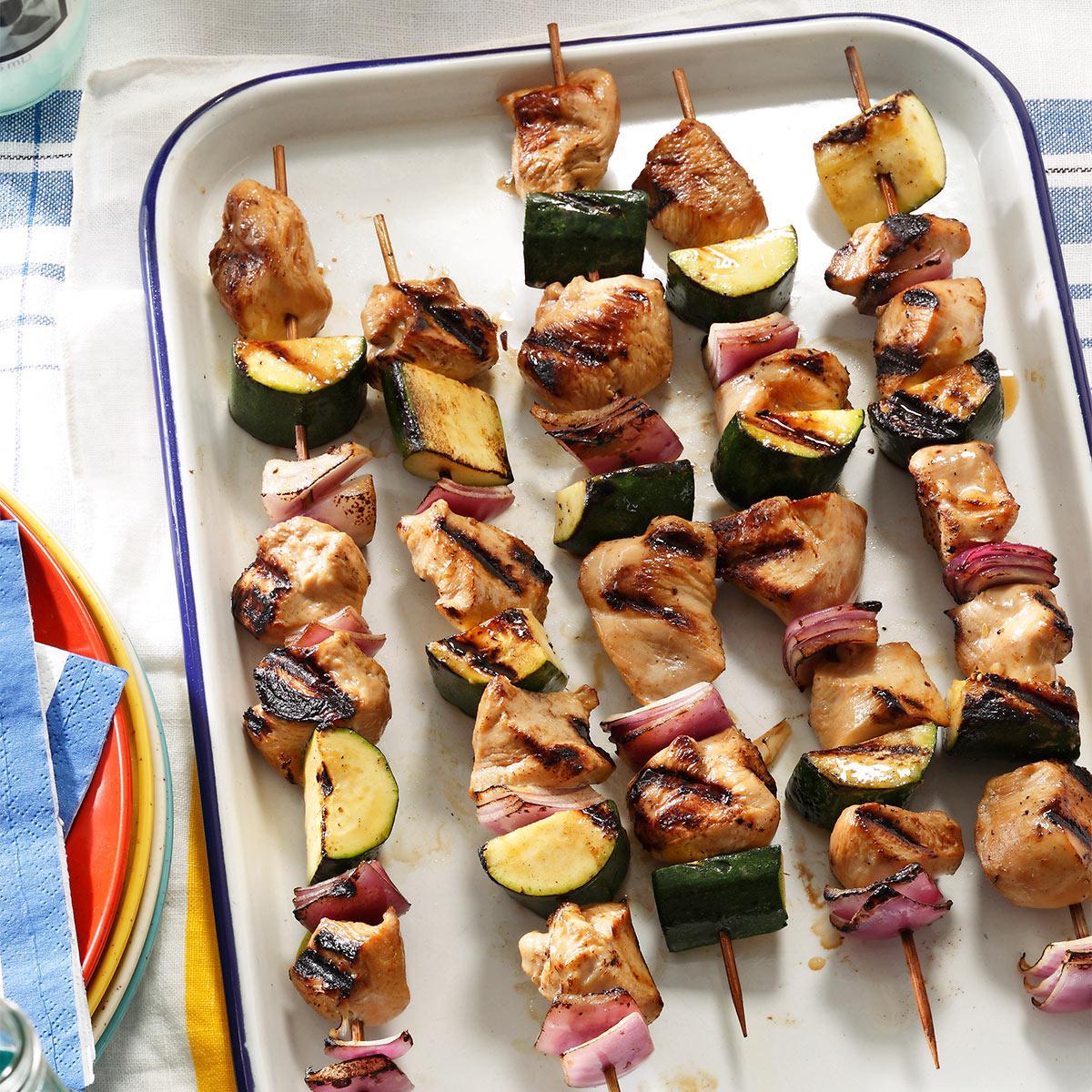 Delicious shish kebab at home