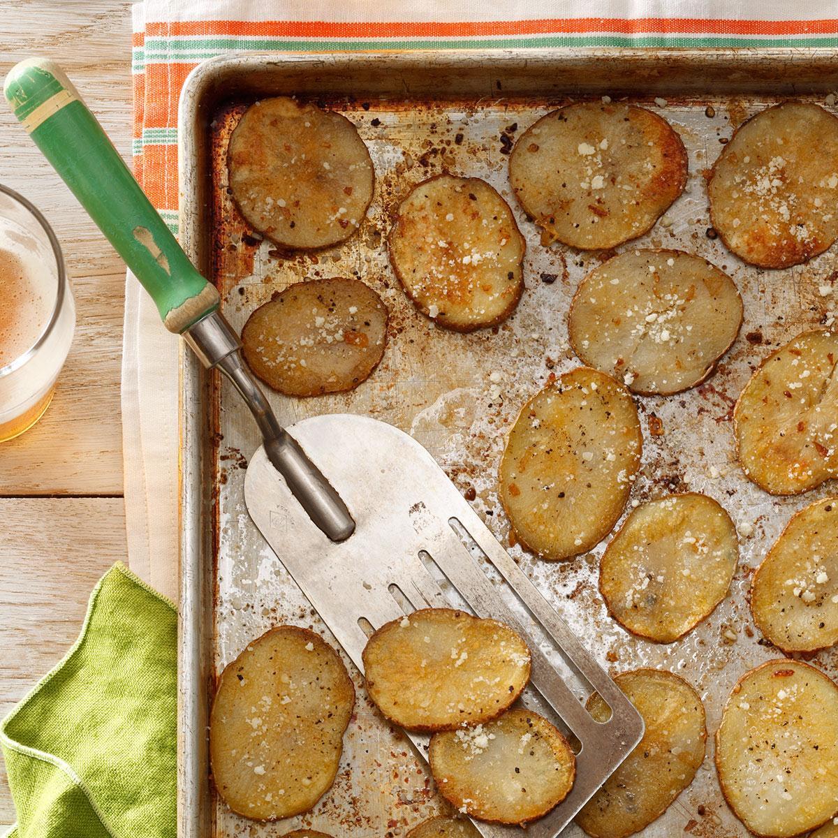 Oven Parmesan Chips Recipe Taste Of Home