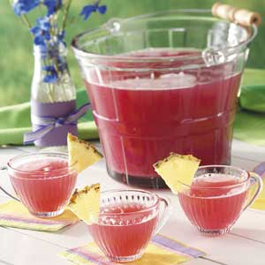 pink rhubarb punch recipe taste of home - Christmas Punch Recipes With Alcohol