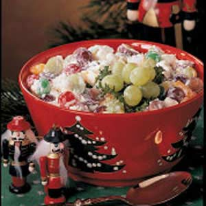 Christmas Fruit Salad.Fruit Salad With Marshmallows