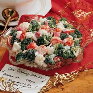 christmas crunch salad recipe taste of home