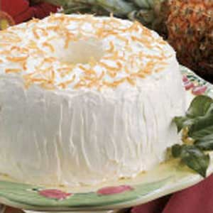 Pineapple coconut angel food cake taste of home forumfinder Image collections