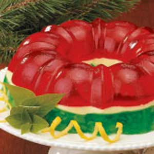 Christmas Jello Recipes.Christmas Gelatin Ring Recipe Taste Of Home