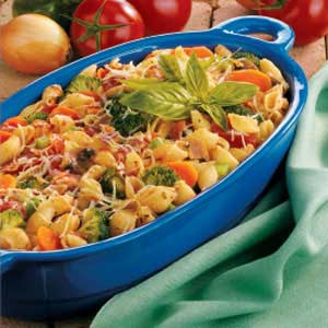 Bacon N Veggie Pasta Recipe
