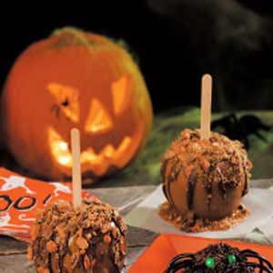 halloween caramel apples recipe taste of home