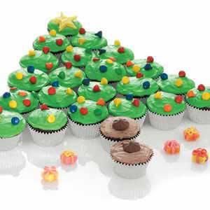 cupcake christmas tree recipe taste of home