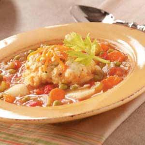 Contest winning vegetable soup with dumplings taste of home forumfinder Images