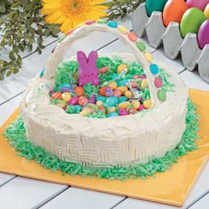 Easter basket candy cake recipe taste of home negle Gallery
