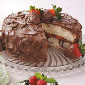 Chocolate Covered Strawberries Cake Taste of Home